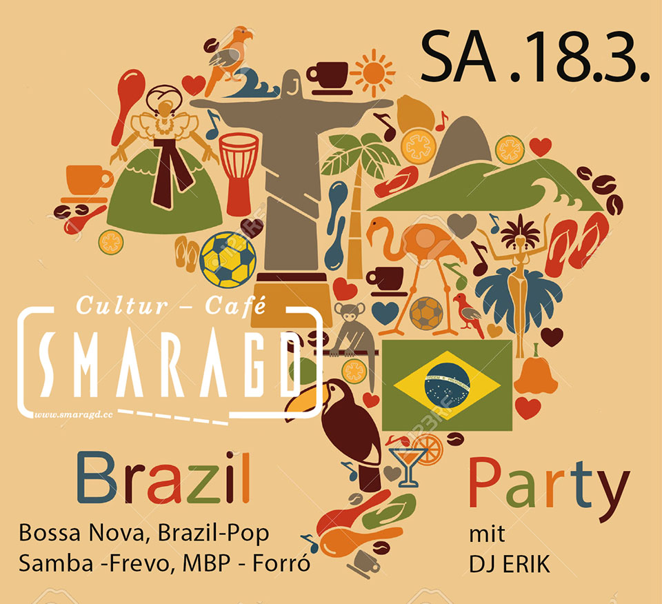 Cultur Cafe Smaragd Linz-Brazil Party-Dj Erik
