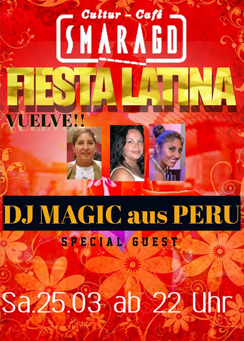 Cultur Cafe Smaragd Linz-Fiesta Latina-Dj Magic