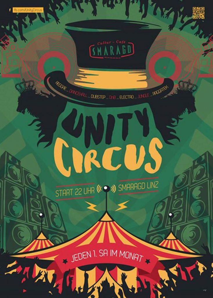 Cultur Cafe Smaragd Linz-Event-Unity Circus