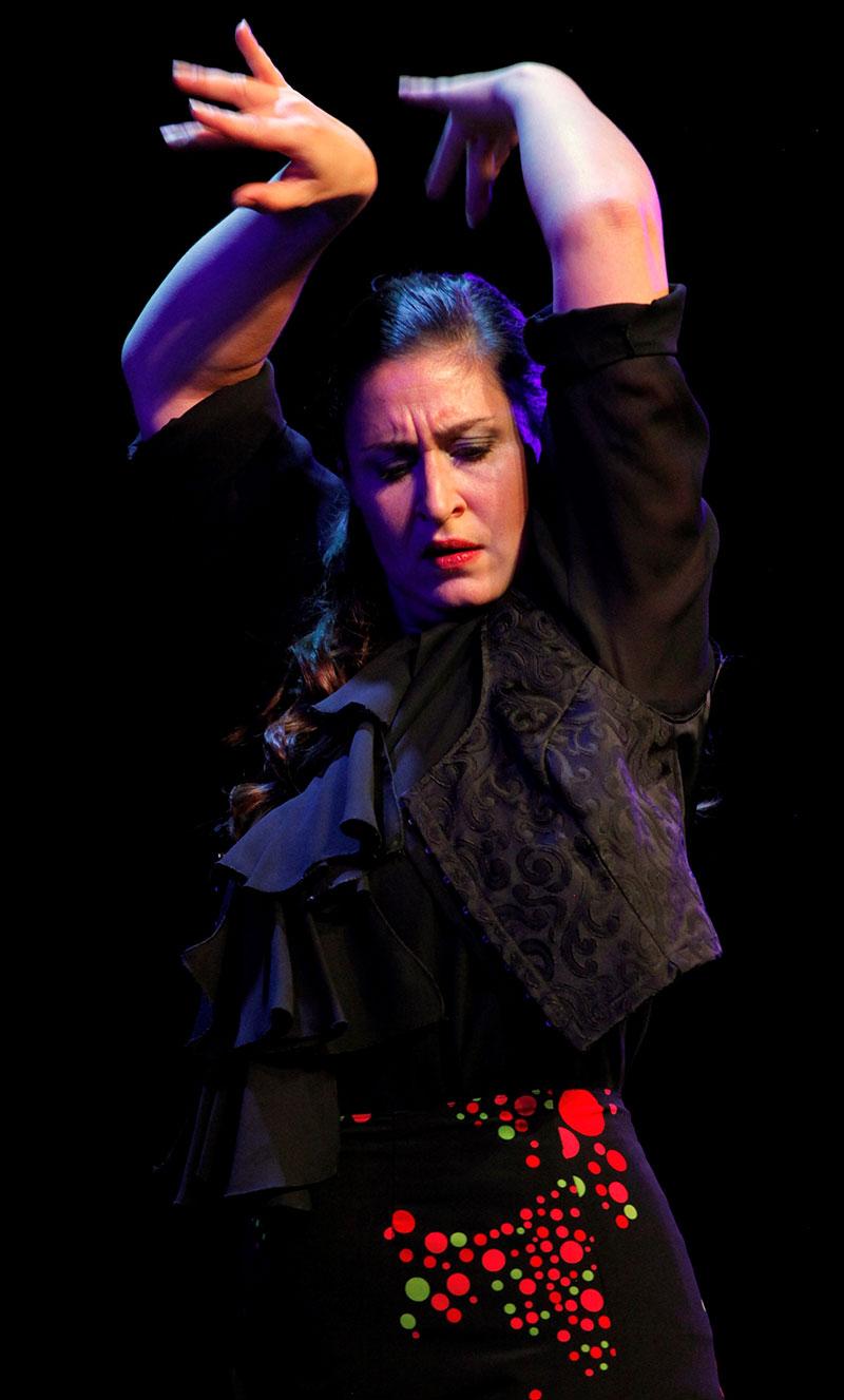 CCsmaragd Flamenco Tanz mit Sandra La Chispa