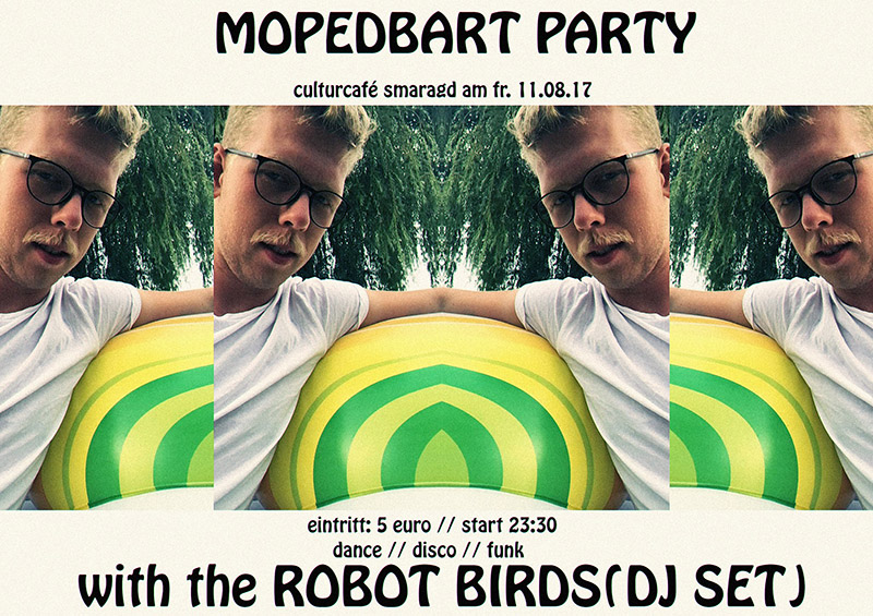 Cultur Cafe Smaragd Linz-Event-Mopedbart Party
