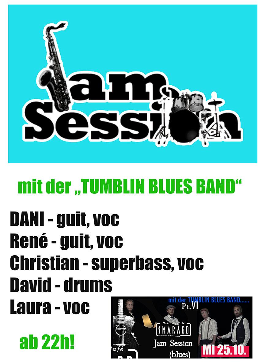 Cultur Cafe Smaragd Linz-Event-Tumblin Blues Band