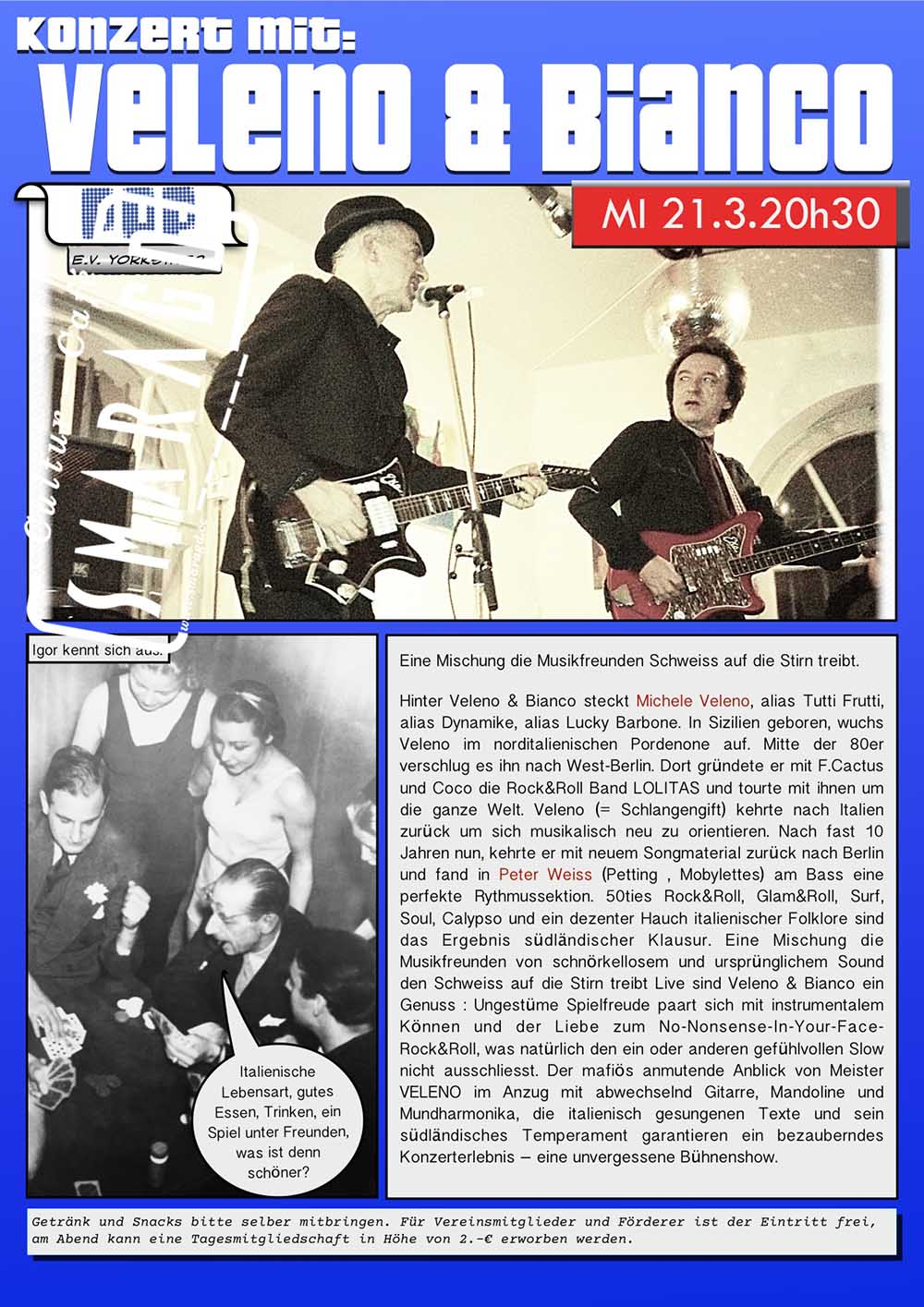 Cultur Cafe Smaragd Linz-Event-Veleno & Bianco