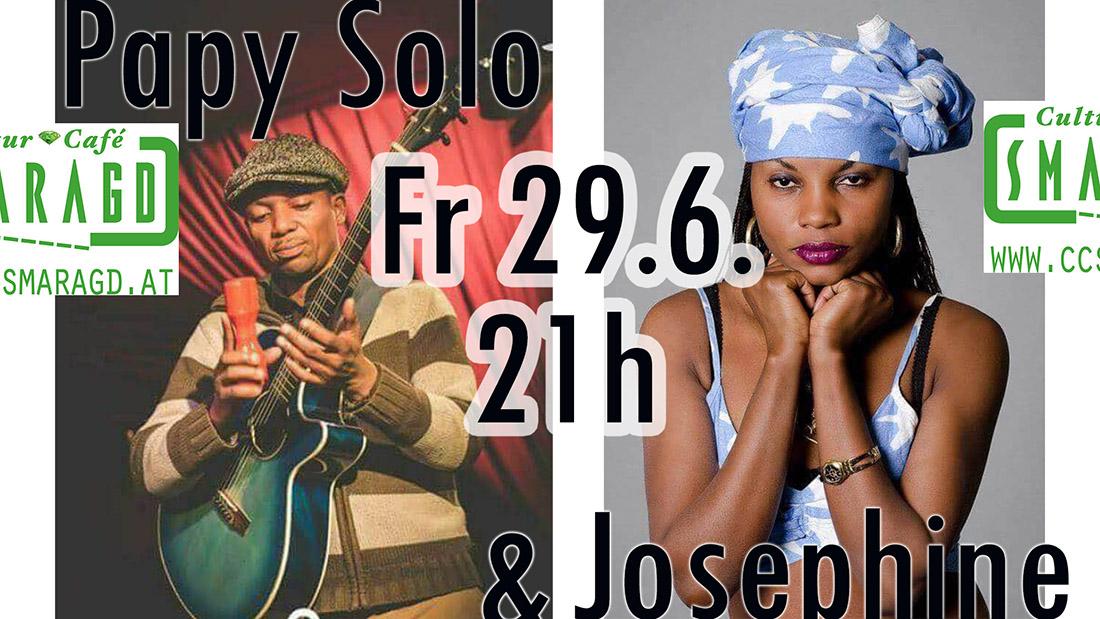 Cultur Cafe Smaragd Linz-Event-Papy Solo & Josephine